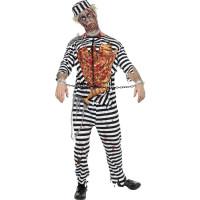 Déguisement Zombie Prisonnier Noir et Blanc Taille L 123DEG-5020570055748-9-10026152