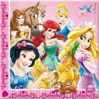 Lot de 20 Serviettes 33X33Cm 2 Plis Princess 123DEG-5201189826478-10017253