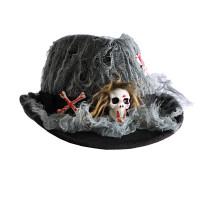 Chapeau Halloween Tissu avec tète de Mort 123DEG-3700638224485-10011135