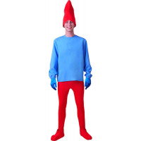Déguisement Chef Lutin Bleu et Rouge de Taille 54/56 123DEG-3700631019460-10015069 de Non