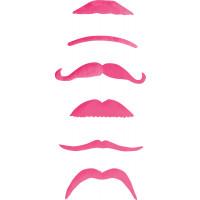 Pack de 6 Moustaches Roses Modèles Assortis 123DEG-3700638210013-10021746